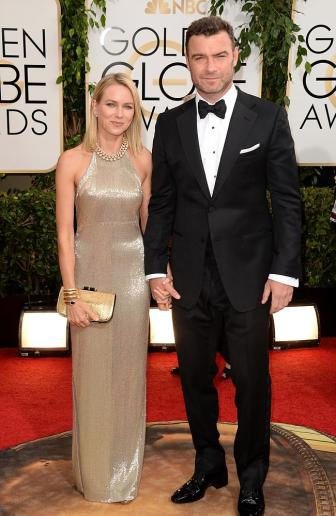 Naomi Watts & Husband at Golden Globes 2014